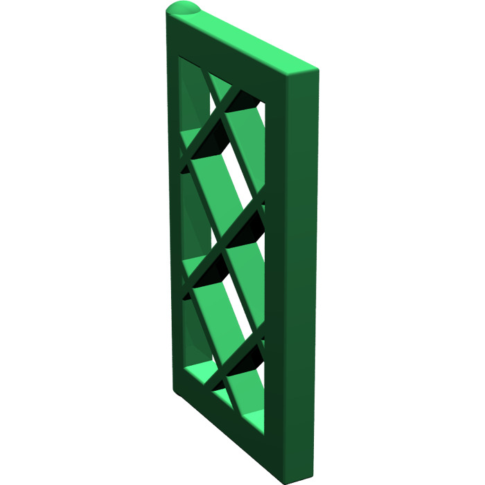 Lego green window 1 x 2 x 3 latticed pane unreinforced for 1 x 3 window