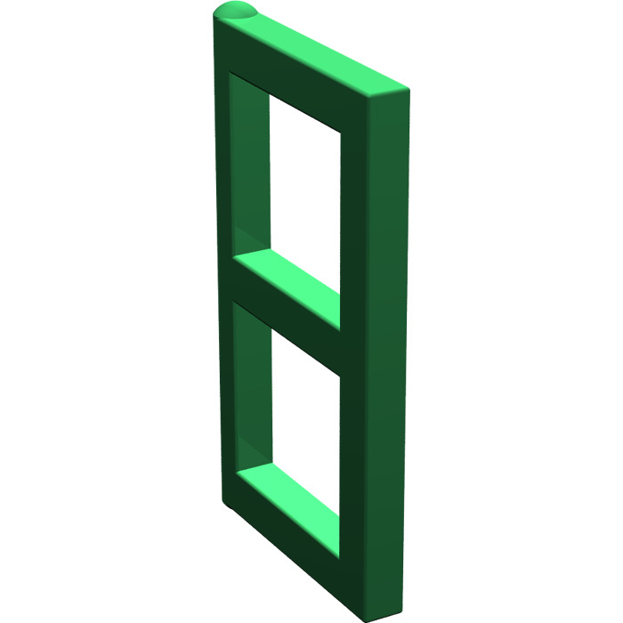 Lego green window 1 x 2 x 3 pane 3854 brick owl lego for 1 x 3 window