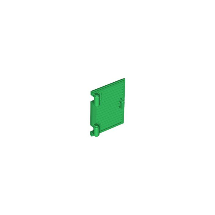 Lego green window 1 x 2 x 3 shutter with hinges and handle for 2 x 3 window