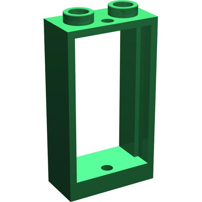Lego green window 1 x 2 x 3 without sill 60593 brick for 2 x 3 window
