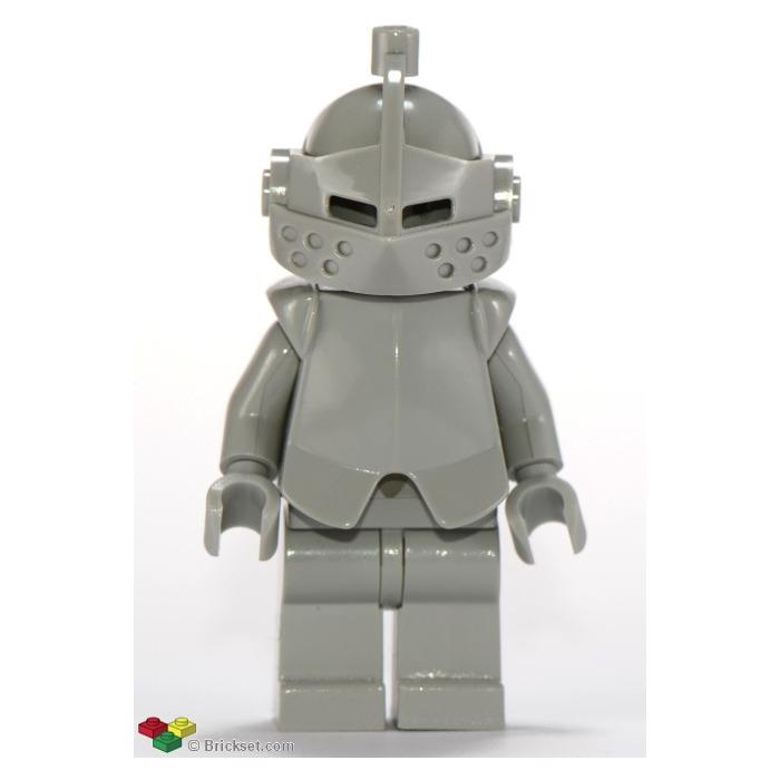 Lego Knight Minifigure Flat Silver Helmet with Silver Metallic Pointed Visor X1