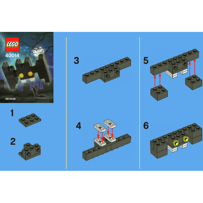 Lego Halloween Bat Set 40014 Instructions Brick Owl Lego Marketplace