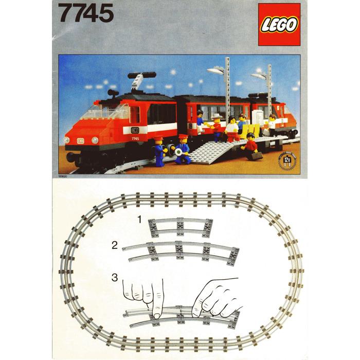 lego city passenger train instructions