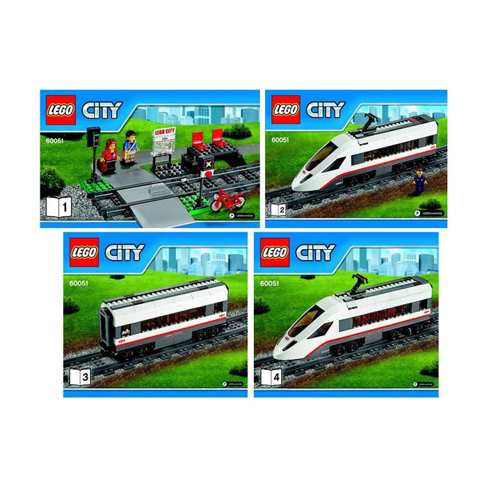 Lego High Speed Passenger Train Set 60051 Instructions Brick Owl