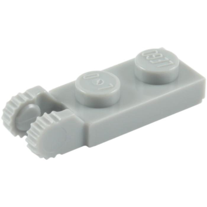 New LEGO Lot of 4 1x2 HINGE PLATE 2 Locking Finger Light Bluish Gray Part 44302a