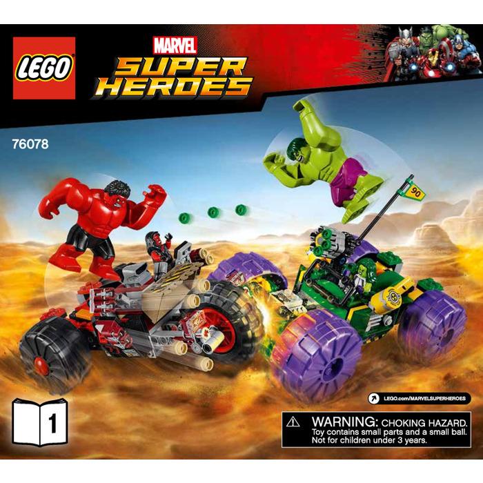 lego hulk vs red hulk set 76078 instructions brick owl lego