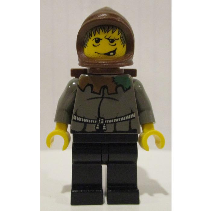 NEW Lego Minifig Dark BROWN FARMERS HOOD Castle Kingdoms Peasant Farmer Cowl Hat