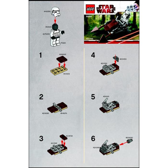 Lego Imperial Speeder Bike Set 30005 Instructions Brick Owl Lego