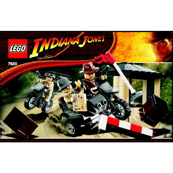 Lego Indiana Jones Motorcycle Chase Set 7620 Instructions Brick