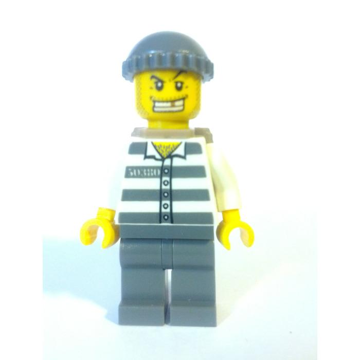 Lego Jail Prisoner Prison Stripes 50380 Pattern Knit Cap