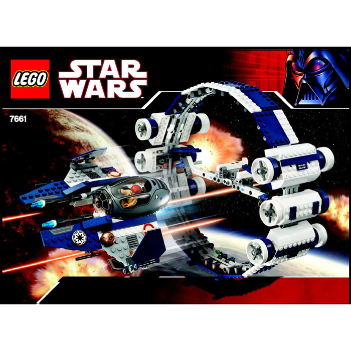 LEGO Jedi Starfighter with Hyperdrive Booster Ring Set 7661 Instructions