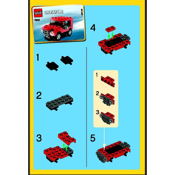 Lego Jeep Set 7803 Instructions Brick Owl Lego Marketplace