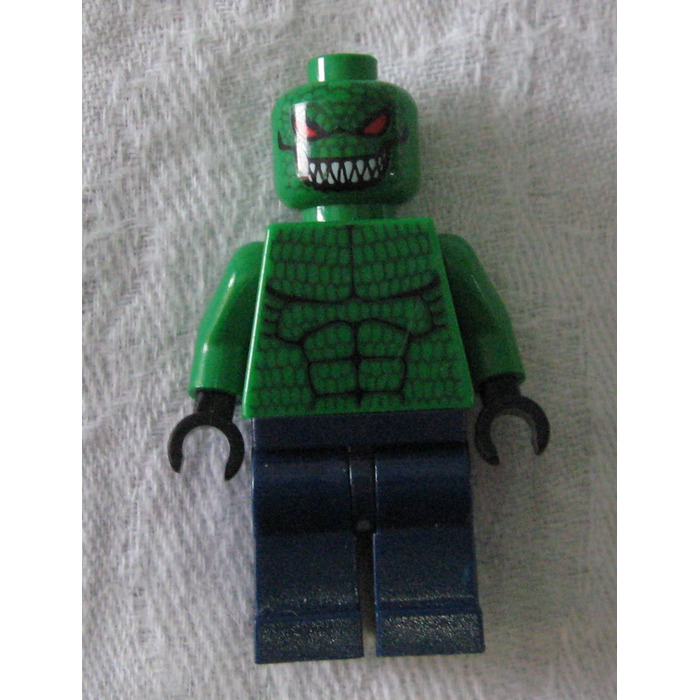 Lego Killer Croc Minifigure on Lego Batman Killer Croc