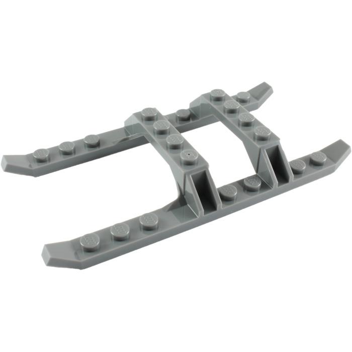 LEGO 30248 HELICOPTER SKIDS/SLED RAILS 12 x 6 DARK STONE GREY BLUISH
