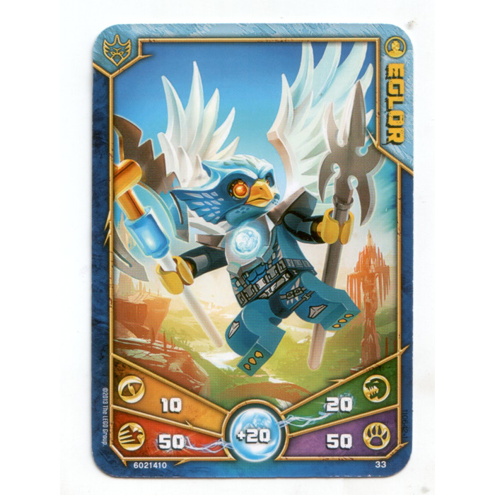 LEGO Legends of Chima Game Card 033 EGLOR (12717) Comes In ...