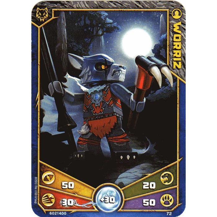 LEGO Legends of Chima Game Card 072 WORRIZ (12717) Comes ...