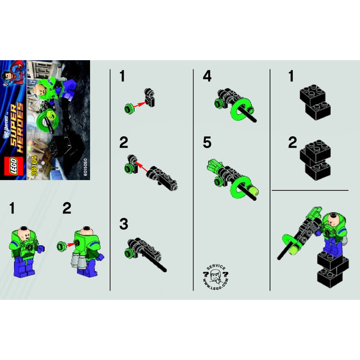 Lego Lex Luthor Set 30164 Instructions Brick Owl Lego Marketplace