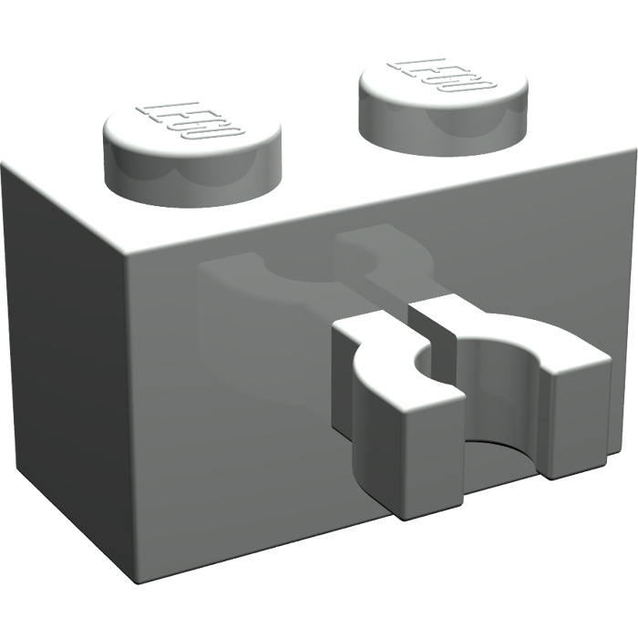 LEGO Bau- & Konstruktionsspielzeug 20 x LEGO 30237b 1x2 WITH THICK O VERTICAL CLIP Baukästen & Konstruktion White