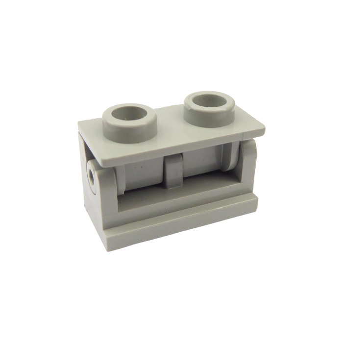 PART 3937c01 LEGO 1 x 2 BLACK HINGE BRICK x 4 COMPLETE ASSEMBLY