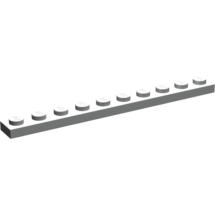 LEGO 10 x plaque Bauplatte Plat 4477 noir 1x10