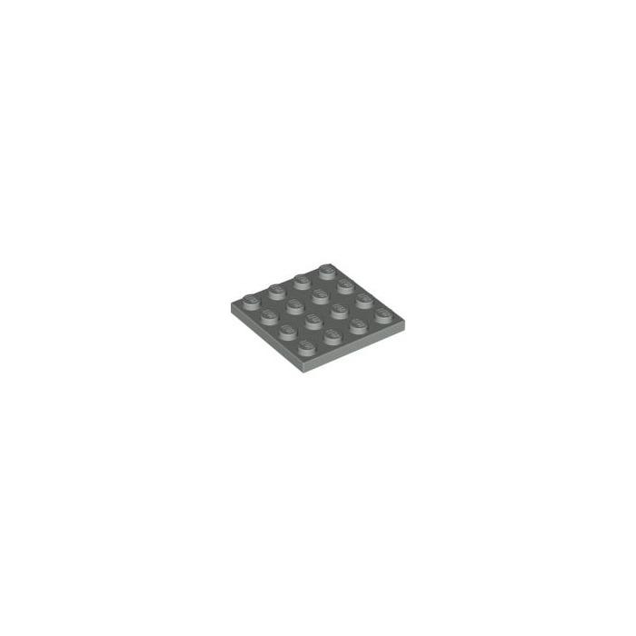 4 unid 4 x 4 convención ritterburg placa de masa Lego -- gris//dkstone 3031