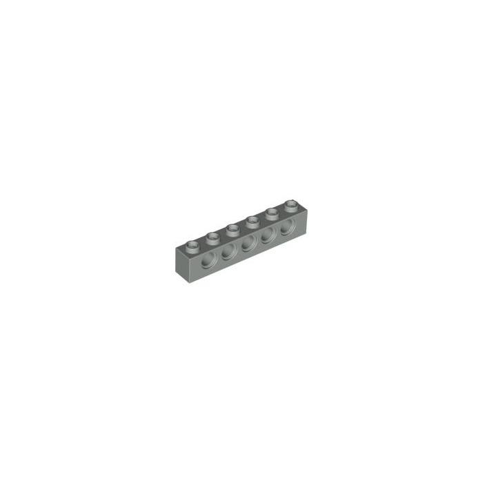 5 1x6 Light Gray Technic bricks w// 5 holes ~ Lego  ~ NEW ~