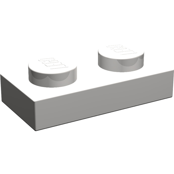 LEGO® Plate Light Gray 1 x 2 Part 3023