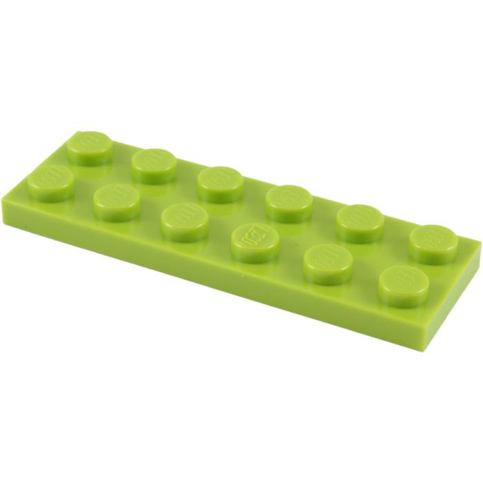 6 x LEGO 3795 Plaque NEUF NEW vert green Plate 2x6
