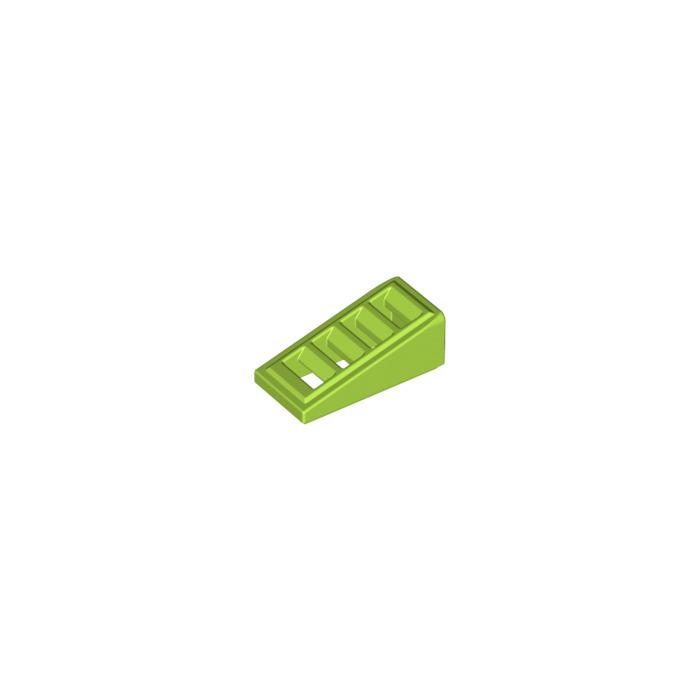 slope brique pente 2x1x2//3 grille GRIS GREY Lot x6 Lego 6092111-61409