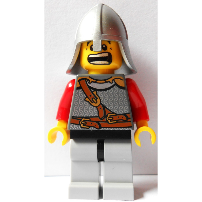 Lego Yellow Dual Sided Scared Head Brown Crows Feet