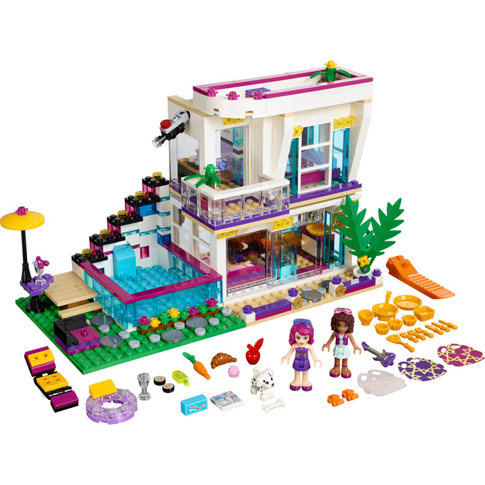 lego friends livi house instructions