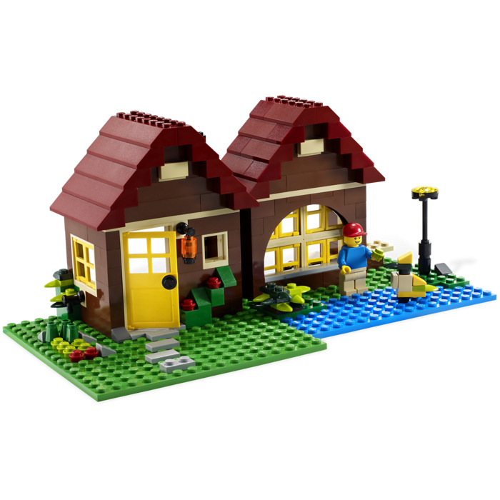 lego log cabin instructions