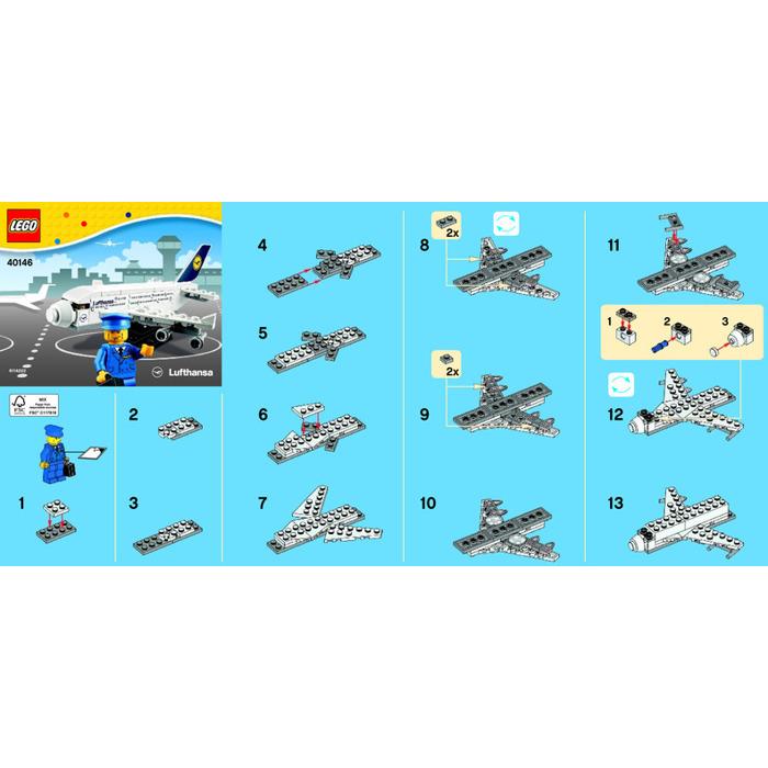 Lego Lufthansa Plane Set 40146 Instructions Brick Owl Lego
