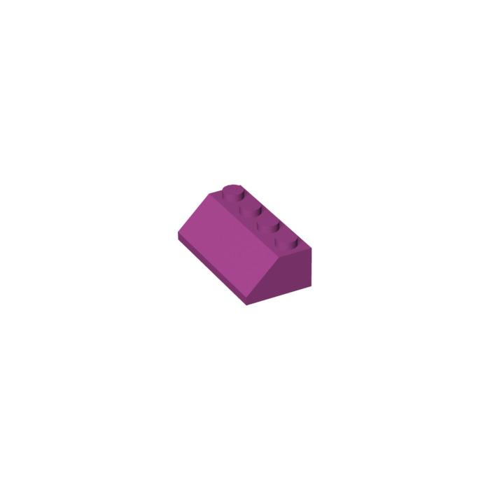 LEGO Parts~ 4 Slope 45 2 x 4  MAGENTA 3037