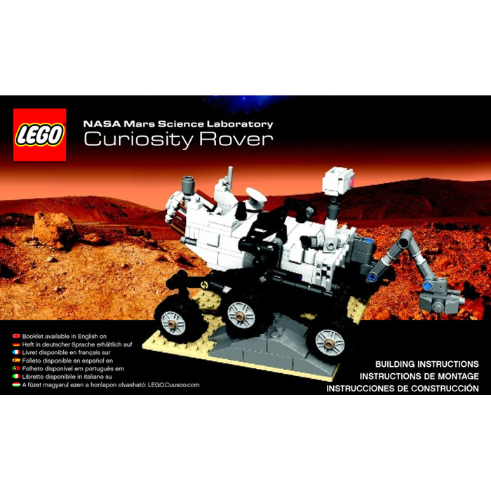 Lego Mars Science Laboratory Curiosity Rover Set 21104 Instructions