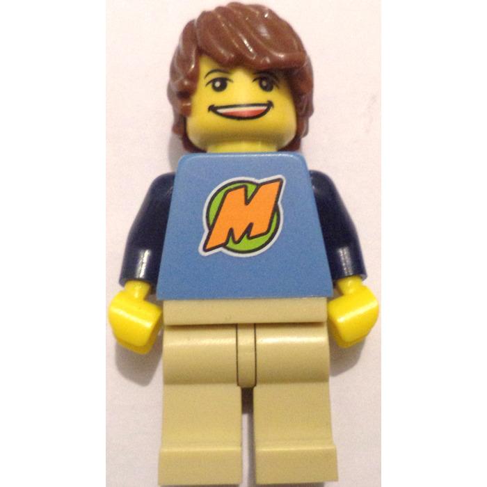 Lego medium blue max from the lego club torso with dark for Maison moderne lego