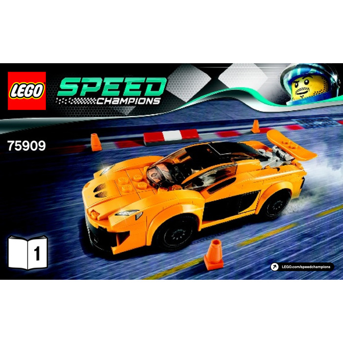 lego mclaren p1 set 75909 instructions | brick owl - lego marketplace
