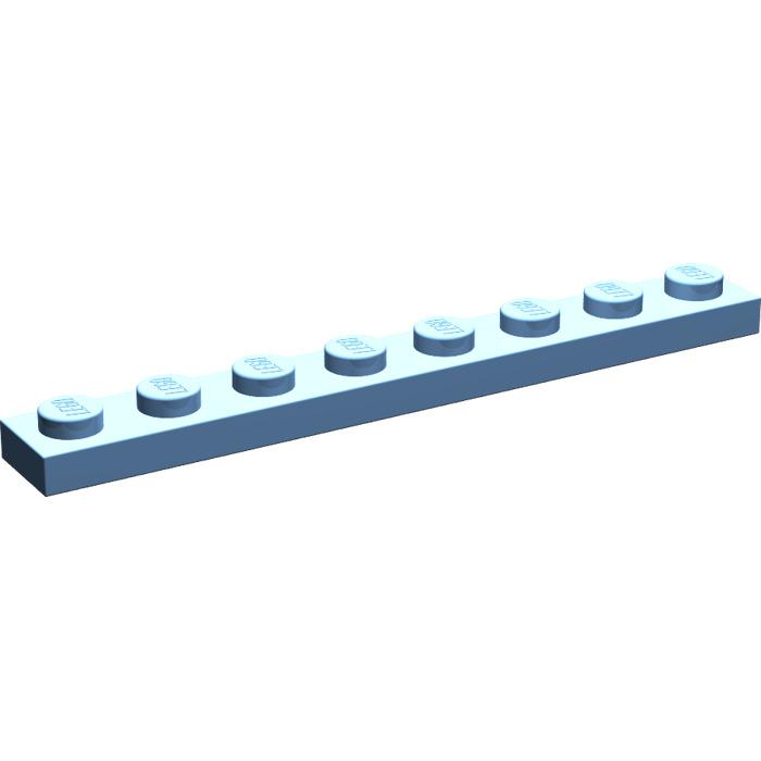 10 x neu 3460 LEGO Platte 1 x 8 dunkel-blaugrau