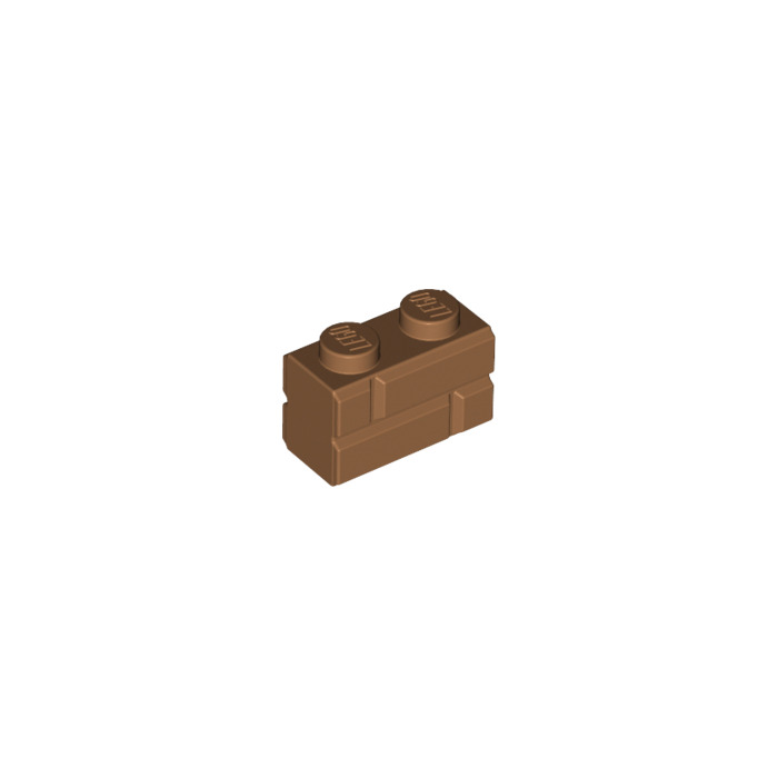 Lego NEW medium dark flesh 1 x 2 standard bricks   Lot of 10