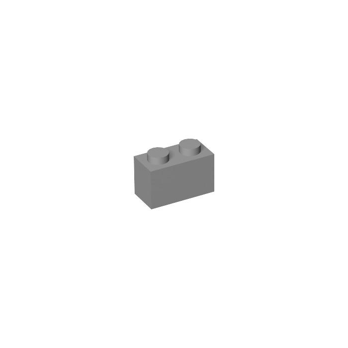 Lego 4 x Backstein Ziegelstein Mauerstein 1x2 98283 Light Bluish Gray NEU NEW