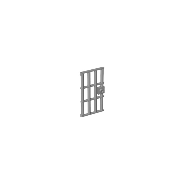 lego gris moyen door 1 x 4 x 6 barred 60621