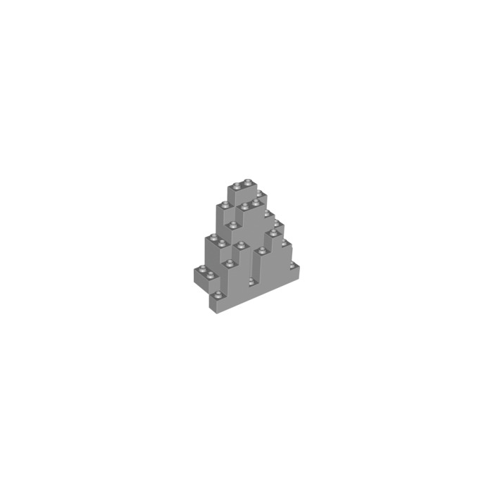LURP 4 x Used Lego parts 6083 ROCK PANEL TRIANGULAR Dark Bluish Gray