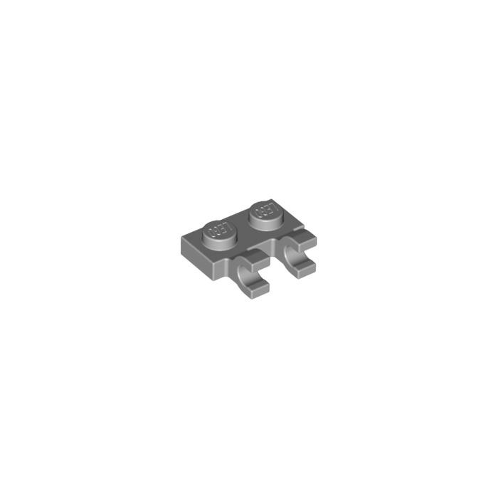 LEGO Part 4556157 1x2 plaque avec 2 porte-pince X4 60470 Lumière Gris bleuâtre