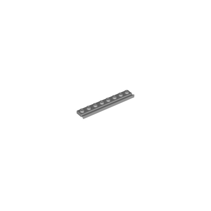 LEGO Medium Stone Gray Plate 1 x 8 with Door Rail (4510)
