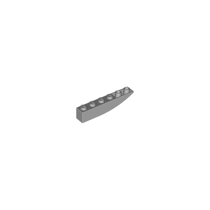 4 LEGO Parts~ Slope Curved 6 x 1 Inverted Medium Stone Gray