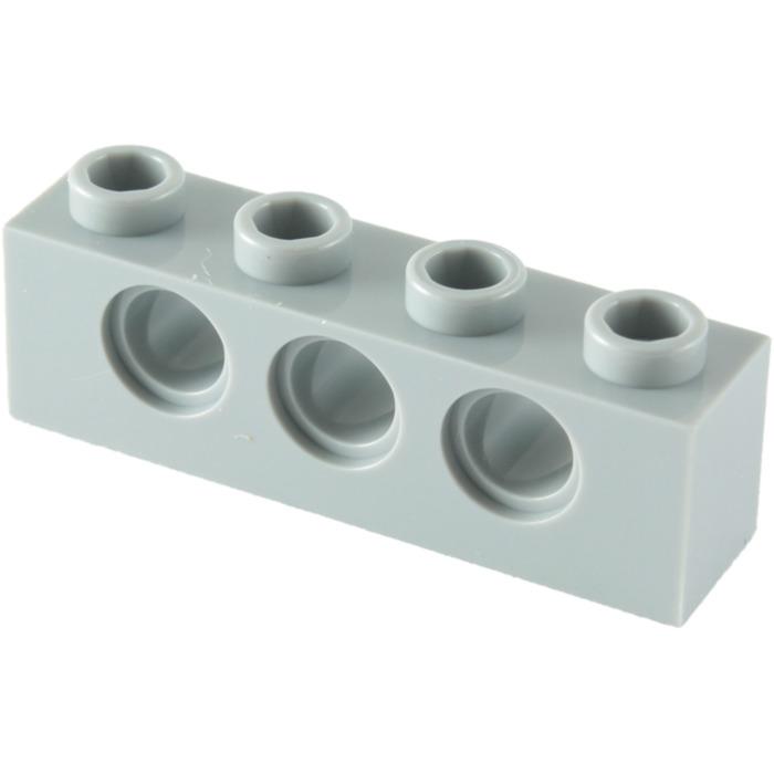 4x brick brick 1x4 hole gray//light gray 3701 new courrier électronique Lego technic
