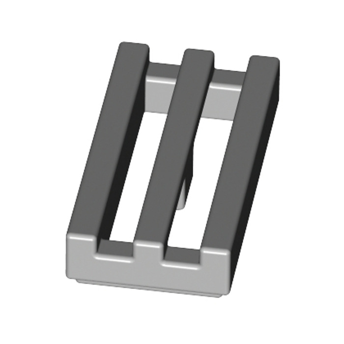 Flat Tile Radiator 1x2 new New Grey Dark Grey 10 X LEGO 2412 Plate Grill