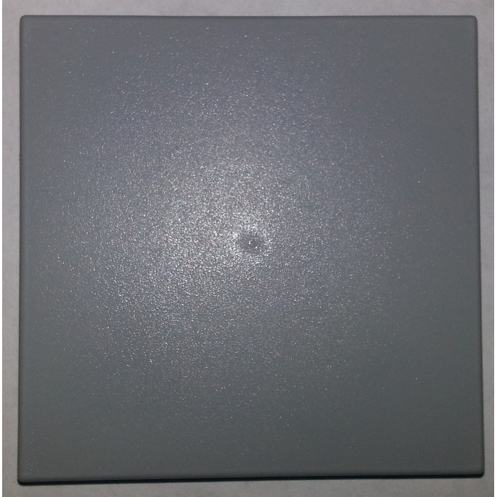 lego medium stone gray tile 6 x 6 without bottom tubes