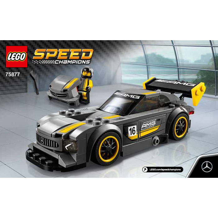 lego mercedes amg gt3 set 75877 instructions brick owl. Black Bedroom Furniture Sets. Home Design Ideas