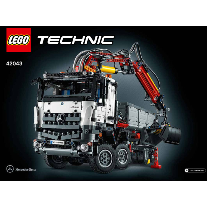 lego mercedes benz arocs 3245 set 42043 instructions. Black Bedroom Furniture Sets. Home Design Ideas